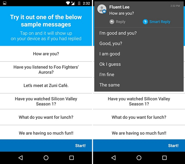 Fluenty app sample images