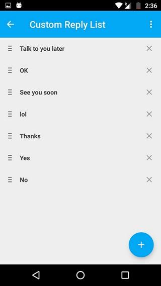 Fluenty custom replies