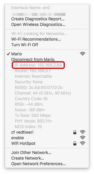 Mac IP Address