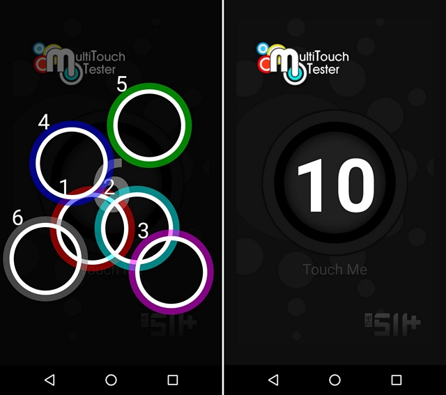 MultiTouch Tester app Android