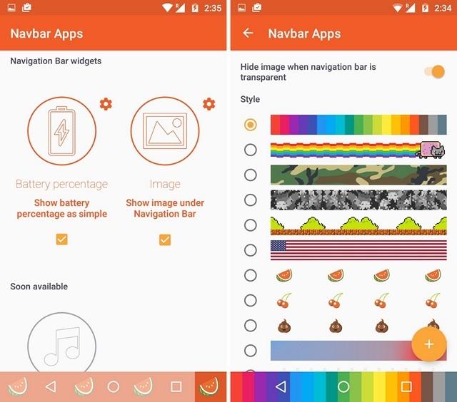 Navbar Apps Widgets