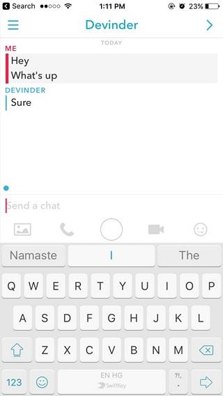 Save parts of chat Snapchat