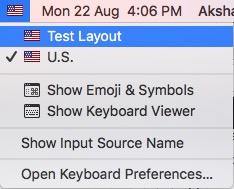 input options in menubar