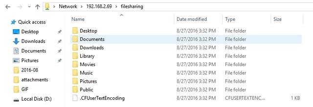 Shared Mac Files on PC