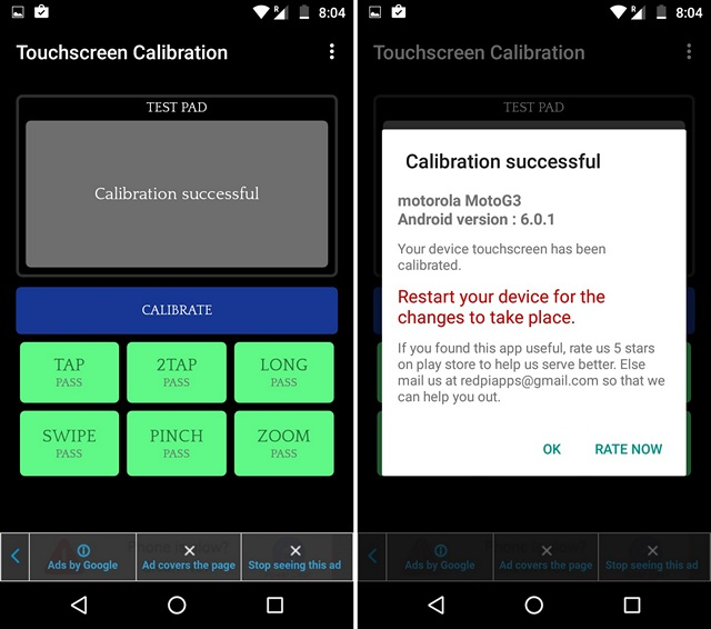 Touchscreen Calibration Android