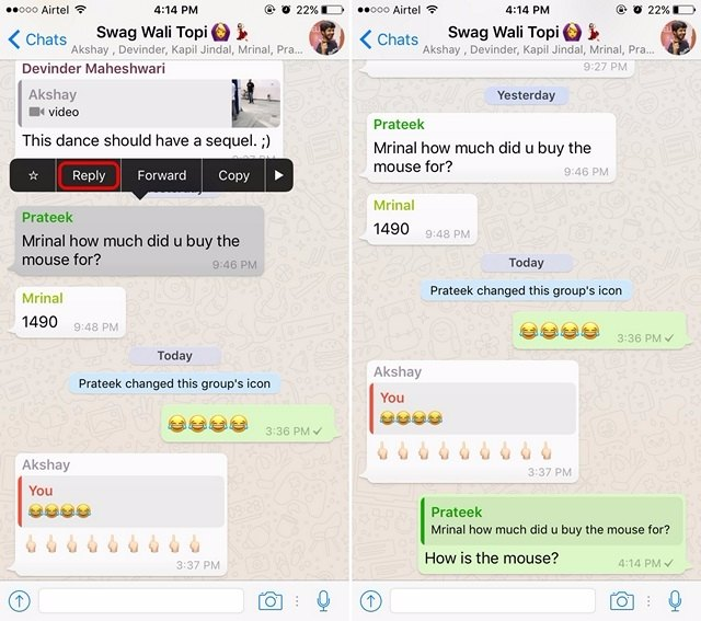 WhatsApp Tricks embed messages in reply-compressed