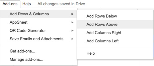 add rows and columns