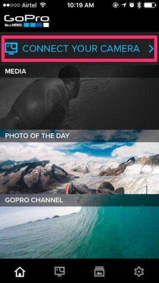 Live-Stream GoPro verbinden eine neue Kamera
