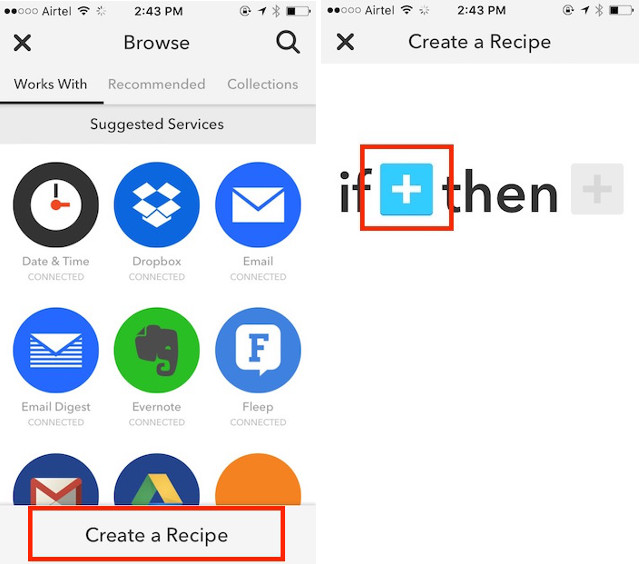 create recipe_ recipe screen
