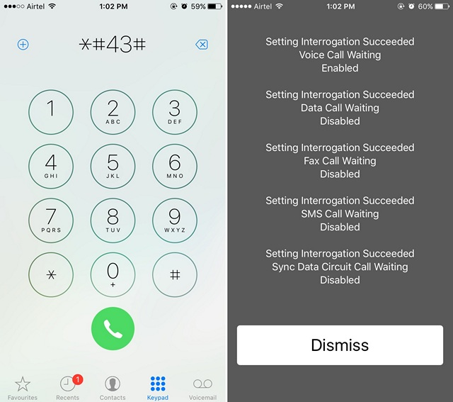 iPhone Secret Codes Check Call Waiting
