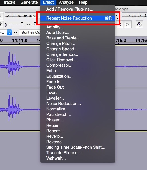 repeat noise reduction