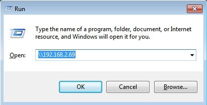 share files between Mac and PC run window