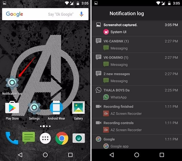 Android Notifications Log-compressed