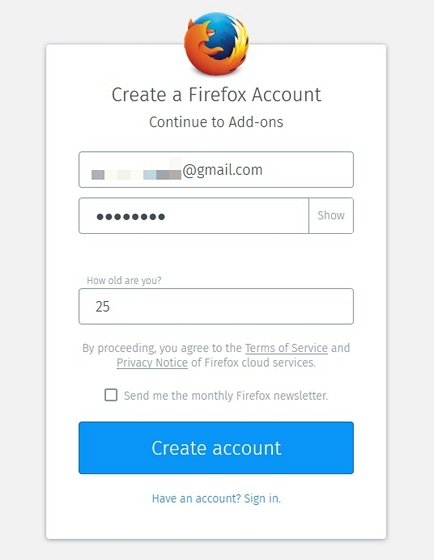 create-firefox-account