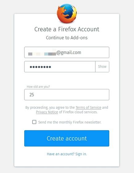 create-firefox-account