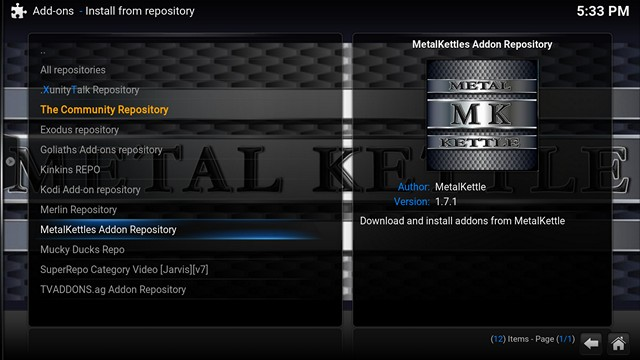Install add on from repository