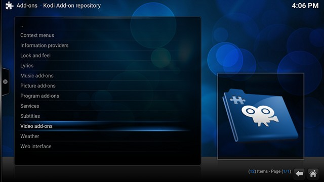 Kodi official add-on repository