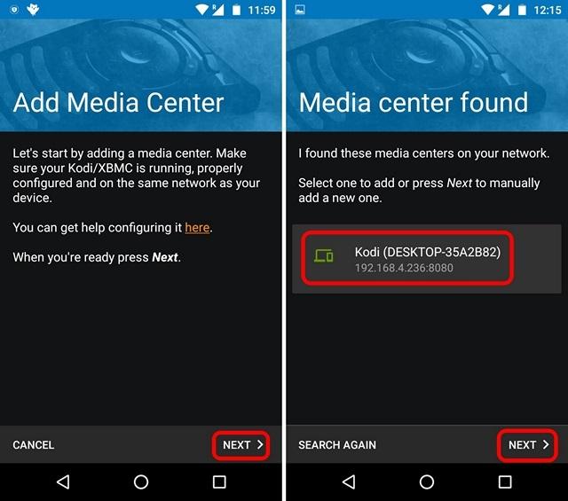 Kodi remote control from Phone