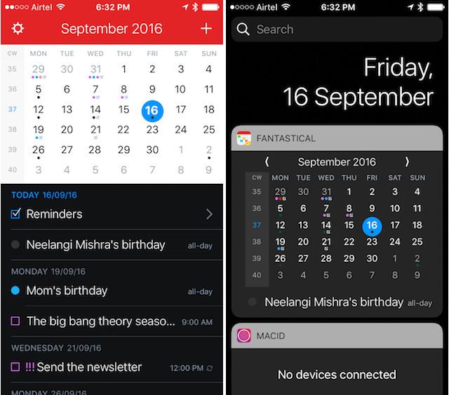 essential iPhone apps fantastical calendar