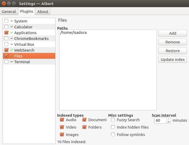 linux-find-files-albert-settings
