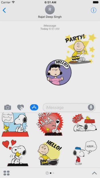 best imessage apps snoopy
