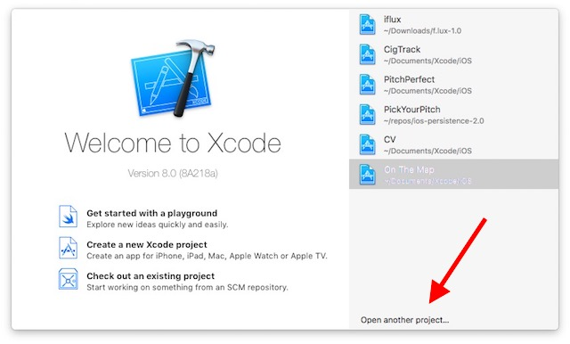 3-open-xcode-and-open-another-project