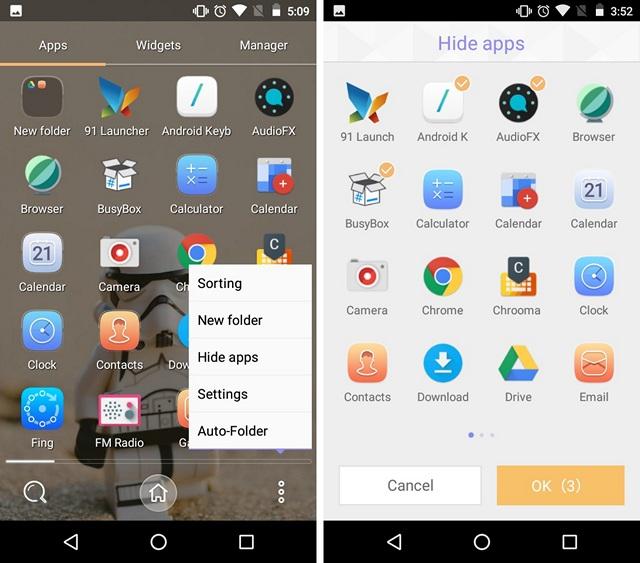 91-launcher-pro-hide-apps