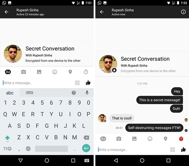 How to Use Secret Conversations in Facebook Messenger App