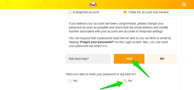 How do you find your snapchat password