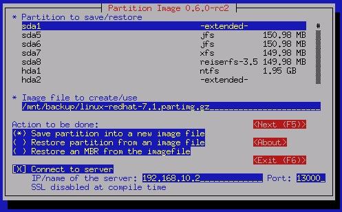 linux-backup-software-partimage