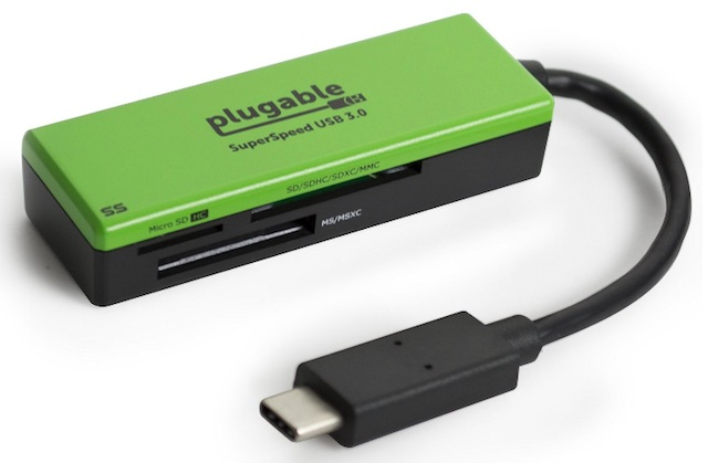USB C Accessories for Apple MacBook Pro plugable usb c memory card reader
