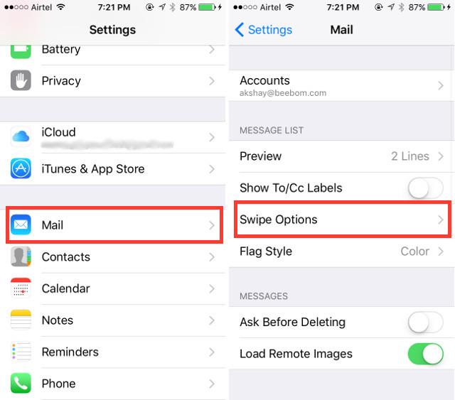 settings-mail-swipe-options