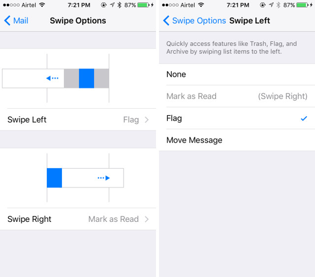 swipe-options-customisation