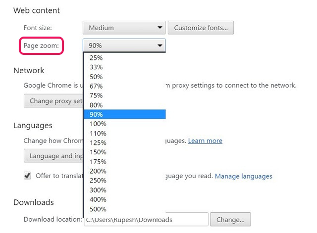 chrome-default-zoom-settings