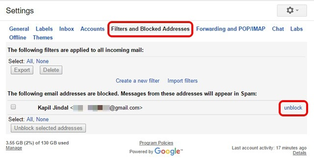 how to search email address on gmail