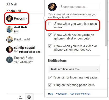 How to Disable Google Hangouts Last Seen Feature | Beebom