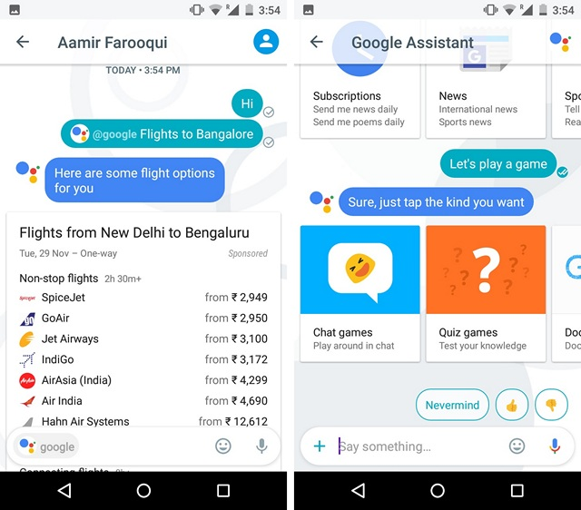 Google Allo WhatsApp Alternative Apps