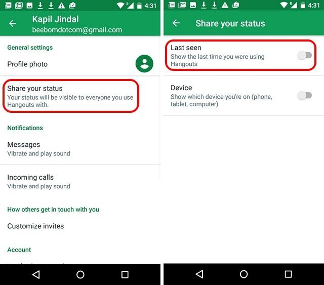 Google-Hangouts-Android-App-zuletzt gesehen
