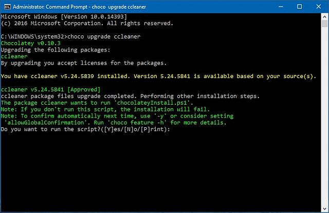 chocolatey-command-prompt-window