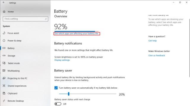 Battery Details in Windows 10 Settings 1