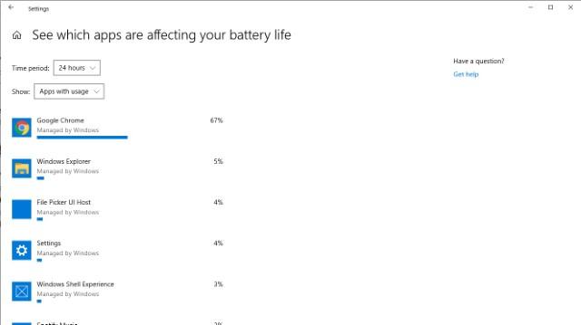 Battery Details in Windows 10 Settings 2