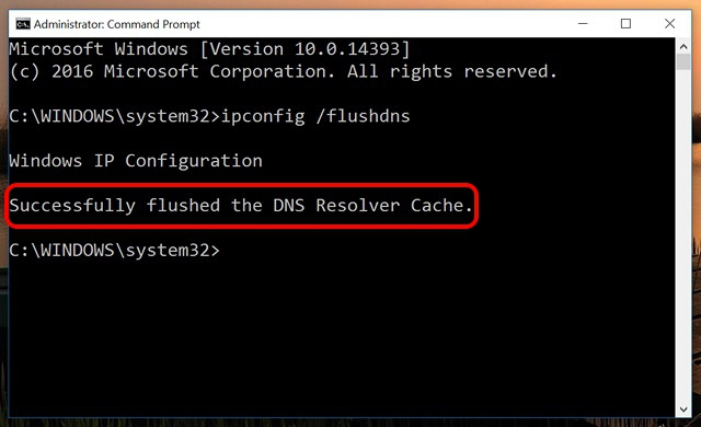 dns-cache-cleared-windows-10