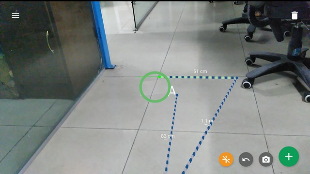 Google Tango Measure App