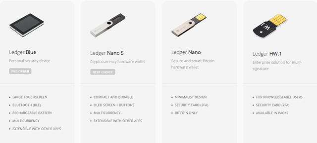 Ledger Bitcoin Wallets