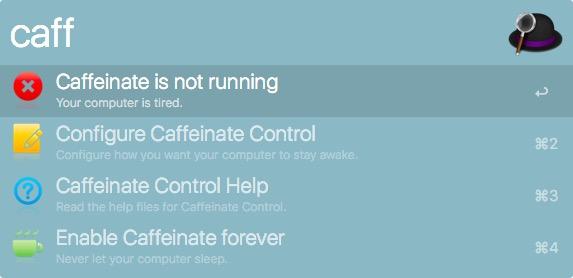 alfred caffeinate