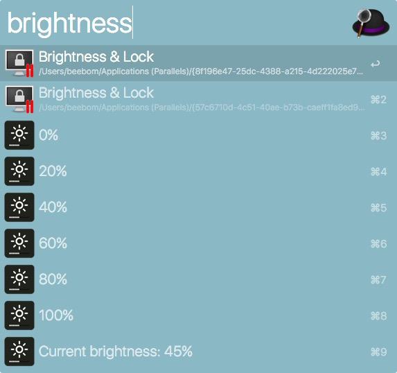 alfred display brightness one