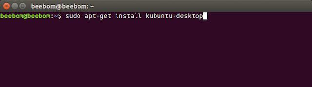 apt get install kubuntu