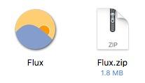 extract flux from zip