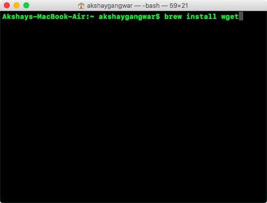 install wget on mac with homebrew