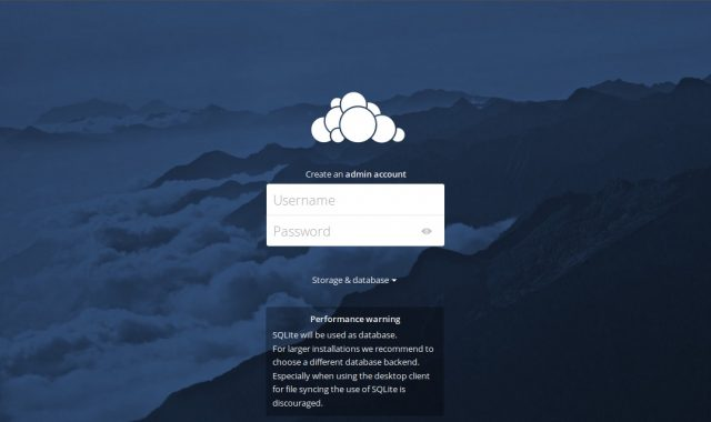 main interface owncloud